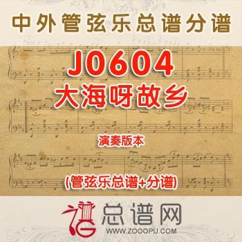 J0604.大海呀故乡 演奏 管弦乐总谱+分谱